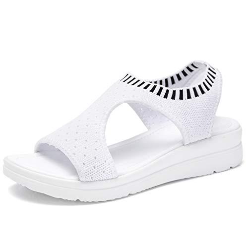Innerternet Damen Damen Atmungsaktiv Komfort Aushöhlen Lässige Wedges Tuch Schuhe Sandalen Sport- & Outdoor Sandalen Plus Größe 35-45 Canvas Womens Schuhe