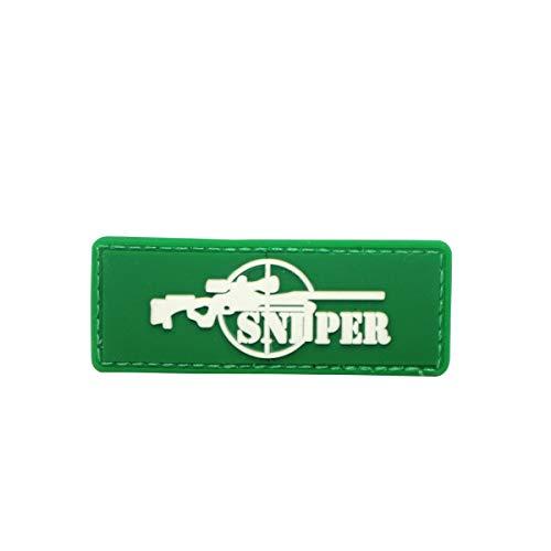Cobra Tactical Solutions PVC Patch Sniper mit Klettverschluss für Cosplay/Airsoft/Paintball für Taktischen Rucksack Kleidung (Grün)