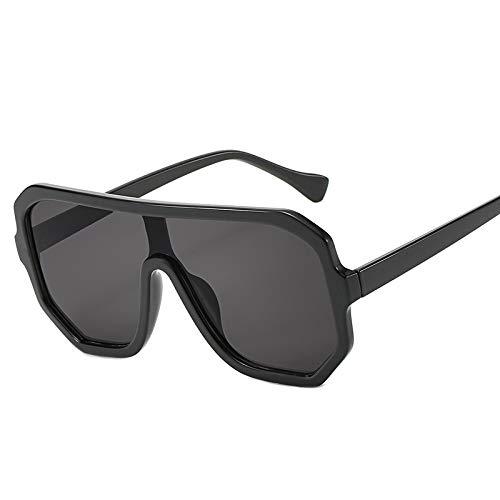 CHUIX Sonnenbrillen, HD-polarisierte Sonnenbrillen Modetrend Vier-Farben-Sonnenbrillen eckige Brillen, geeignet für Männer und Frauen Fahren Laufen Reisen (32g),Black