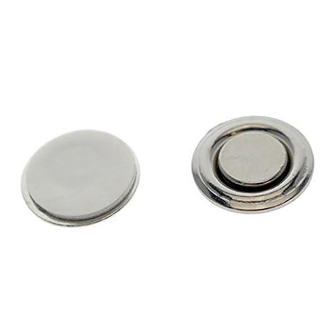 Petit bouton rond et badge Aimants–Nametag magnétique solide et guides de Épinglette avec dos adhésif autocollant par Specialist ID 10 Pack