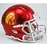 USC Trojans Alternate Chrome Riddell Speed Mini Helmet by Riddell