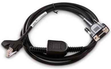 Intermec 1.8m RS-232 - Accesorio para lector de códigos de barras (Negro, RS-232, Macho, 1,8 m)