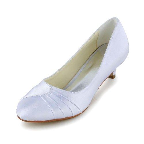 Jia Jia Wedding 0117 chaussures de mariée mariage Escarpins pour femme Blanc