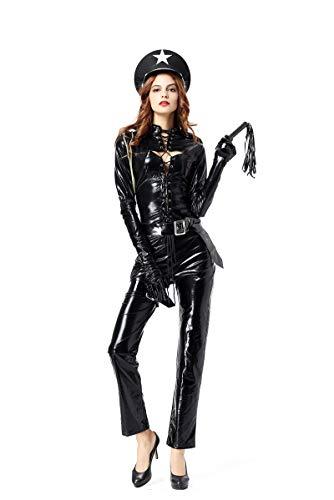 Zooma Halloween Frauen Uniform Cosplay Kostüm Damen Performance - Sultry Swat Kostüm