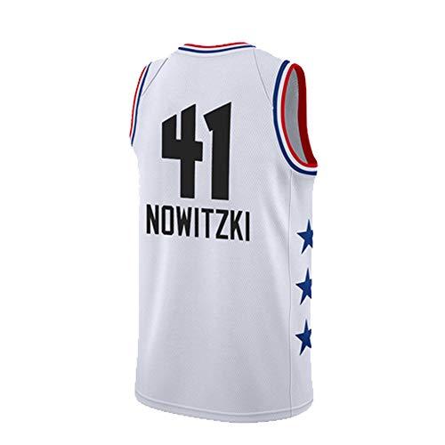 SEYE1° Nowitzki NBA-Trikot, Dallas Mavericks # 41, 2019 Basketball-T-Shirts, Trikots Für Jungen, Basketball-Sweatshirt