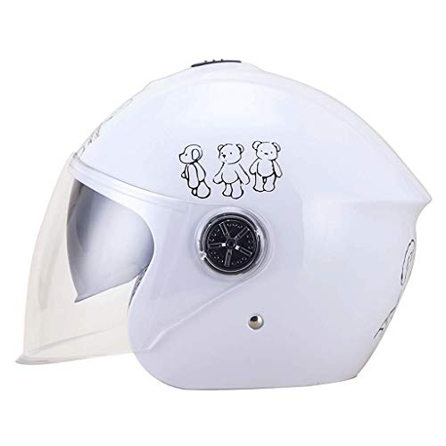 YUEMS Kinder Helm Elektrische Batterie Motorrad Männer Und Frauen Kinder Baby Helm Niedlichen Cartoon Halbe Helm Vier Jahreszeiten Universal (Farbe : B1)