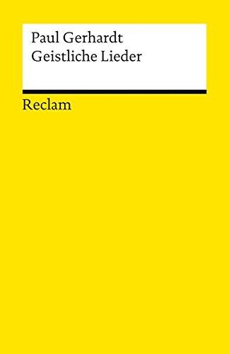 Geistliche Lieder (Reclams Universal-Bibliothek) (Blut-lied Das)