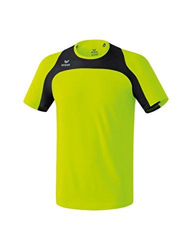 Erima Kinder Race Line Running T-Shirt, Neon Gelb/Schwarz, 152
