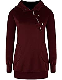 Flying Rabbit-Sweat à Capuche Femme Hoodies Manches Longues Sweat-Shirt  Chaud Pull Capuche Grande Taille… ca1e872cdae1