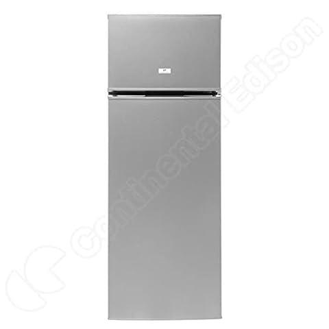 Continental-edison cef2d227s2 - réfrigérateur congélateur haut - silver