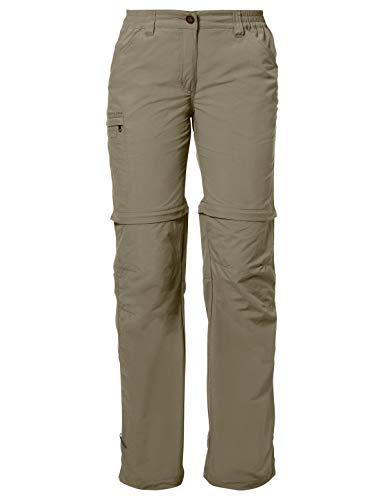VAUDE Damen Hose Farley Zip Off Pants IV, Muddy,38/S (lang), 3873