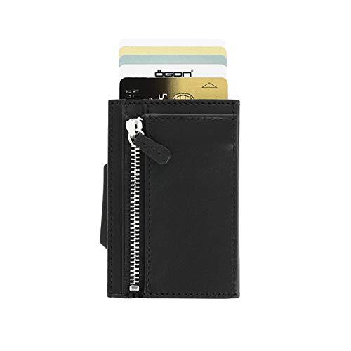 8ee27ebb5c Caratteristiche ed informazioni su Ögon cascade zipper wallet case custodia  per carte di credito rfid in pelle italiana e alluminio ...