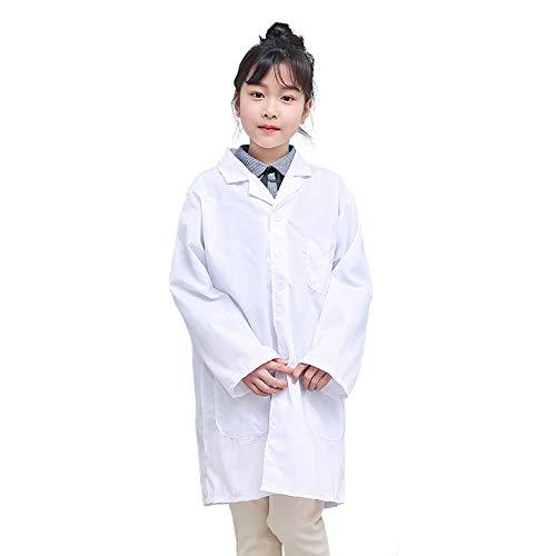 Majome 1 Unids Niños Enfermera Doctor White Lab Coat Uniforme Rendimiento Superior...