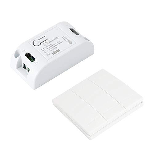 LayOPO Interruptor Inteligente WiFi, Interruptor de Luz Interruptor de Pared de Control...
