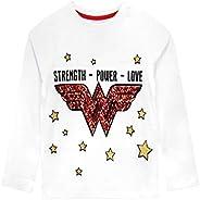 DC Comics Camiseta de Manga Larga para niños Wonder Woman