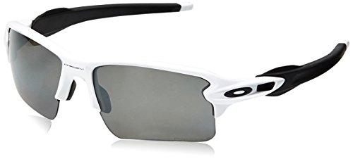 Oakley Herren Flak 2.0 Xl 918881 Sonnenbrille, Weiß (Polished White/Prizmblackpolarized), 59