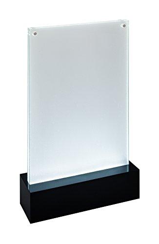 SIGEL TA422 Beleuchtbarer LED-Tischaufsteller für DIN A5, glasklar/schwarz, Acryl - weitere Größen