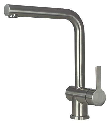 Spültischarmatur Wasserhahn Küche Spültisch Armatur Mizzo Design Arlori - 100{034681344e087c2d38d021f4ec3882aef0020f87464f718d7719f792a1f986ed} Edelstahl Mischbatterie - matt gebürstet - Küchenarmaturen Waschtischarmatur Einhebelmischer