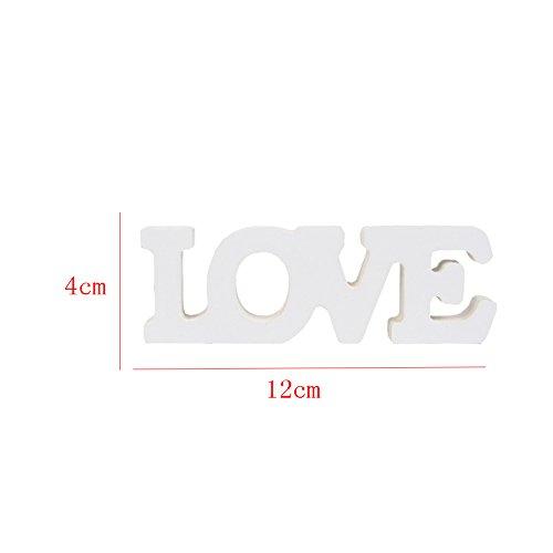aihome Holz Buchstaben Hochzeit Party Home Raum Dekoration Schild Top Table Decor Foto Stand vertreten Geschenk D - 6