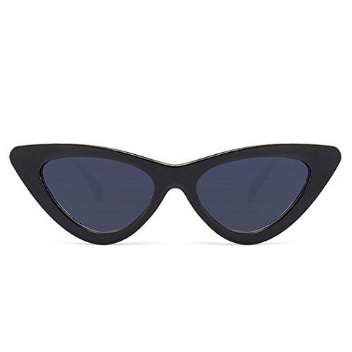 OUTEYE Vintage Cat-Eye-Sonnenbrille Damen Herren Retro Brille Mode Sonnenbrille Sunglasses Dreieck