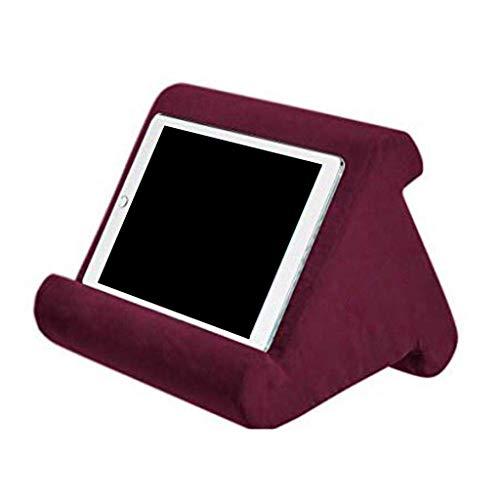 Mya Support Multi-Angle pour Coussins pour Tablettes,Soft Pillow pour Tablette,Coussin de Support pour Tablette,Téléphones Intelligents, lecteurs de Livres numériques,Livres et Magazines (vin Rouge)