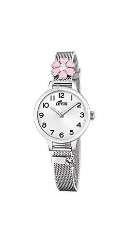 Lotus - Reloj para Niña Acero Flor Rosa Cierre de Hebilla 18661/2