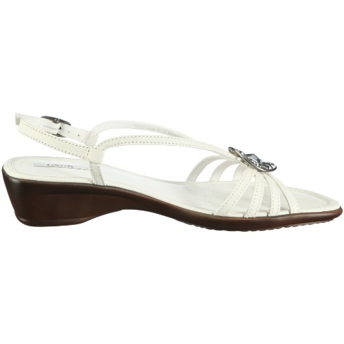 Geox Donna Coral, Sandali donna bianco (Weiss/White)