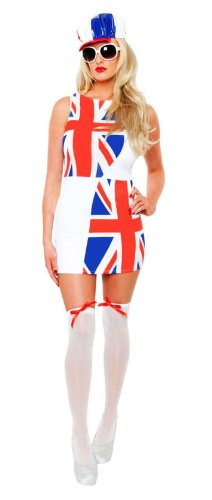 Role Play Damen Halloween Kleid weiß Mod For It UK 12-14