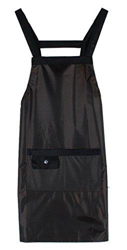 Y-BOA Tablier Femme Cuisine Avec Poche Nettoyage Bavette Taille 93*70cm (Kaki)