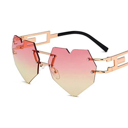 YLYZJH Heart Sunglasses Brille Heart Shaped SunglassGradientSonnenbrilleUnisex klare Linse