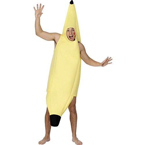 Erwachsenen-Kostüm Unisex Banane - Einheitsgröße (Smiffys Banane Kostüm)
