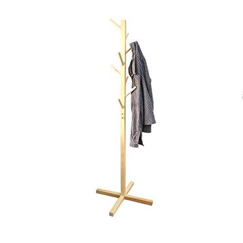 Porte-manteau en bois massif cintre plancher de vêtements simples étagère chambre de finition rack salle de séjour rack de stockage