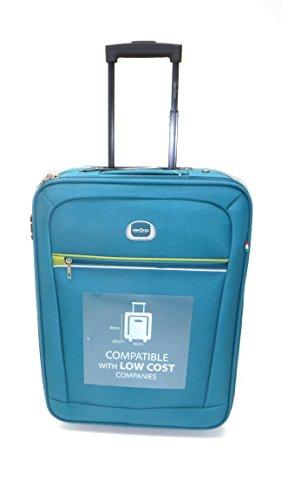 Trolley Clacson cm. 55 x 40 x 20 Bagaglio a mano Semirigido Impermeabile Idoneo Low Cost Ryanair (Petrolio)