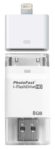 kentron-iflashdrive-hd-8gb-chiavetta-usb-per-scambio-dati-senza-utilizzo-di-itunes-bianco