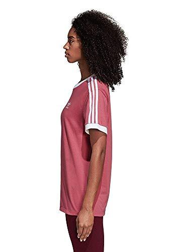adidas Damen 3-Stripes T-Shirt, Trace Maroon, 38