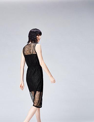 FIND Damen Kleid Embroidered Lace Mehrfarbig (Black)