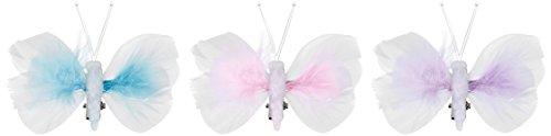HEITMANN DECO 30077 Ressort Papillons avec Clip Pastel 12 pièces Plastique, 18,5 x 9 x 1 cm, Blanc/Rose/Lilas/Bleu Clair