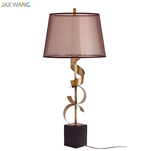 5151BuyWorld Lampe Moderne Metall Tischlampe Marmor Top Qualität Basis Schreibtisch Lights Stoff Lampenschirm Lampe Für Wohnzimmer Schlafzimmer Nachtlese Beleuchtung Für Zuhause {Gold} -