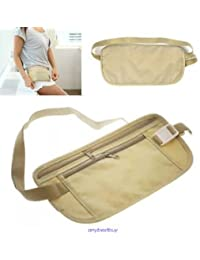 SLB Works Brand New Waist Belt Bag Travel Pouch For Hidden ID Passport Security Money Compact Safety
