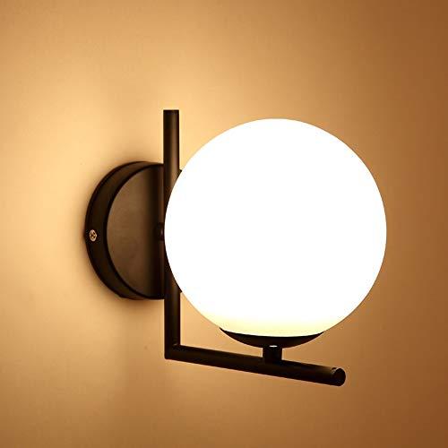Wunderschönen Moderne Wandleuchte Einfache Schlafzimmer Nachttischlampe Kreative Mode Persönlichkeit Dekoration Nordischen Glaskugel Wandleuchte Großhandel Machen Sie Ihr Zuhause luxuriöser