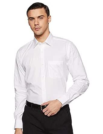 Raymond Men's Plain Regular fit Formal Shirt (RMSA09316-W0_White_39)