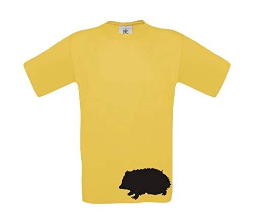 Shirtinstyle Camiseta De Niño Divertido Animales Erizo, Talla 104-164 - Amarillo, 164