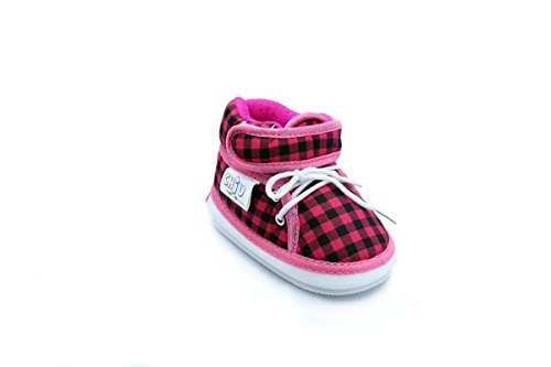 Chiu Pink Color Velcro with Lace Whistle Musical Outdoor First Walking Shoes 6-12Months