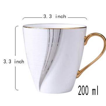 Tasses à café,Mug en céramique Tasse Espresso Service à thé en Porcelaine Cadeaux d'affaires Convient pour Le Bureau et la Maison Tasse à Boire-B 200ml