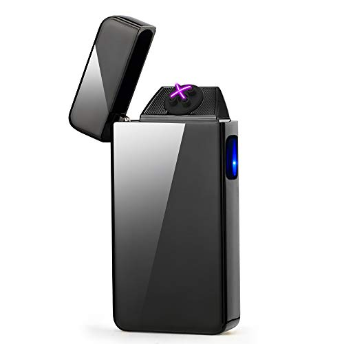 dibikou - Mechero eléctrico de Doble Arco, Resistente al Viento, sin Llama, USB, Recargable