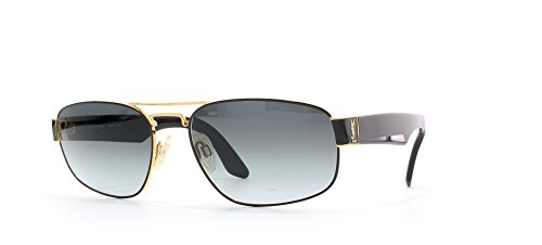 Ysl 4016 104 Black Certified Vintage Aviator Sunglasses For Mens