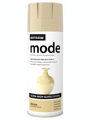 Spray Paint Light (Rust-Oleum Modus Premium Ultra Hochglanz-Spray Paint Licht braun mokka, Light Brown Mocha, 10er-Pack)