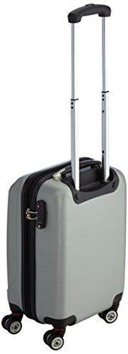 Packenger Velvet Koffer, Trolley, Hartschale  M in Silber.   50x34x23cm -