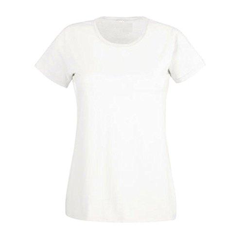 ZEARO Damen T-Shirt Top Sommer weich T Shirts mit Rundhalsausschnitt S M L XL XXL Weiß