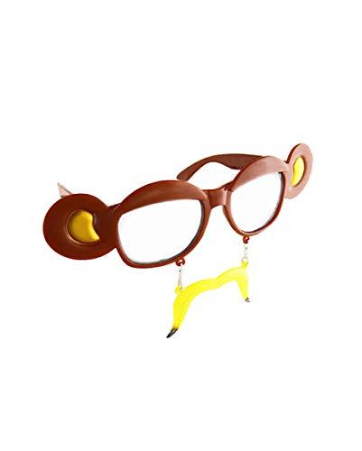 Horror-Shop Kostüm-Brille mit Affenohren für Fasching & Halloween
